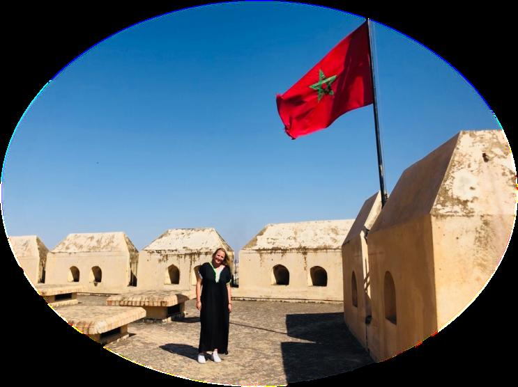 Foto Studentin in Marokko